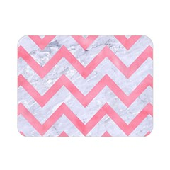 Chevron9 White Marble & Pink Watercolor (r) Double Sided Flano Blanket (mini)