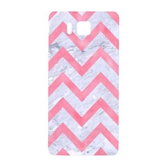 Chevron9 White Marble & Pink Watercolor (r) Samsung Galaxy Alpha Hardshell Back Case