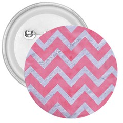 Chevron9 White Marble & Pink Watercolor 3  Buttons