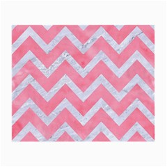 Chevron9 White Marble & Pink Watercolor Small Glasses Cloth