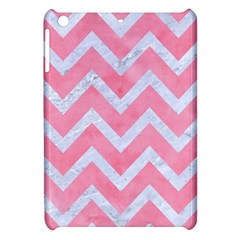 Chevron9 White Marble & Pink Watercolor Apple Ipad Mini Hardshell Case by trendistuff