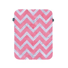Chevron9 White Marble & Pink Watercolor Apple Ipad 2/3/4 Protective Soft Cases