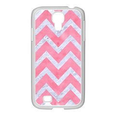 Chevron9 White Marble & Pink Watercolor Samsung Galaxy S4 I9500/ I9505 Case (white)