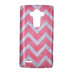 Chevron9 White Marble & Pink Watercolor Lg G4 Hardshell Case