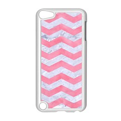 Chevron3 White Marble & Pink Watercolor Apple Ipod Touch 5 Case (white) by trendistuff