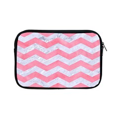 Chevron3 White Marble & Pink Watercolor Apple Ipad Mini Zipper Cases