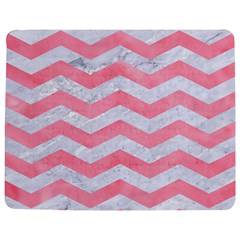 Chevron3 White Marble & Pink Watercolor Jigsaw Puzzle Photo Stand (rectangular)