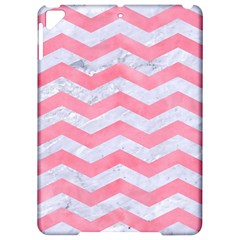Chevron3 White Marble & Pink Watercolor Apple Ipad Pro 9 7   Hardshell Case