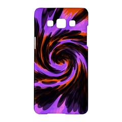 Swirl Black Purple Orange Samsung Galaxy A5 Hardshell Case
