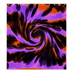 Swirl Black Purple Orange Shower Curtain 66  X 72  (large)