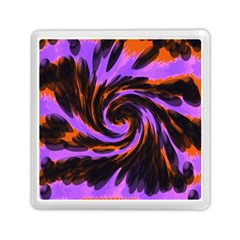 Swirl Black Purple Orange Memory Card Reader (square)