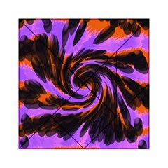 Swirl Black Purple Orange Acrylic Tangram Puzzle (6  X 6 )