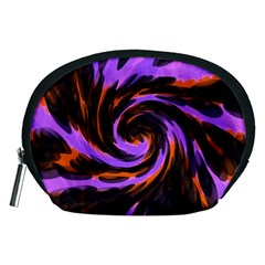 Swirl Black Purple Orange Accessory Pouches (medium)