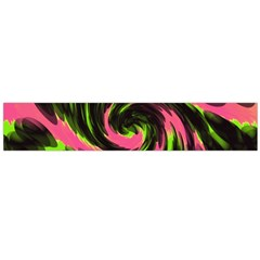 Swirl Black Pink Green Large Flano Scarf