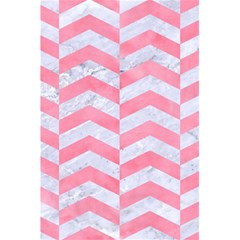 Chevron2 White Marble & Pink Watercolor 5 5  X 8 5  Notebooks by trendistuff