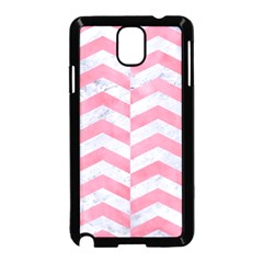 Chevron2 White Marble & Pink Watercolor Samsung Galaxy Note 3 Neo Hardshell Case (black) by trendistuff