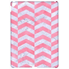 Chevron2 White Marble & Pink Watercolor Apple Ipad Pro 12 9   Hardshell Case by trendistuff