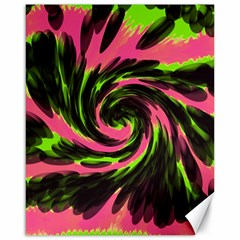 Swirl Black Pink Green Canvas 16  X 20