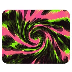 Swirl Black Pink Green Double Sided Flano Blanket (medium)  by BrightVibesDesign
