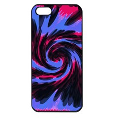 Swirl Black Blue Pink Apple Iphone 5 Seamless Case (black) by BrightVibesDesign