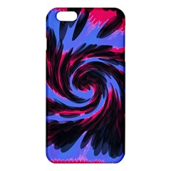 Swirl Black Blue Pink Iphone 6 Plus/6s Plus Tpu Case by BrightVibesDesign