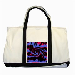 Swirl Black Blue Pink Two Tone Tote Bag by BrightVibesDesign