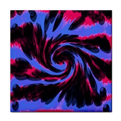 Swirl Black Blue Pink Face Towel by BrightVibesDesign