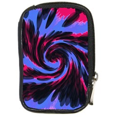 Swirl Black Blue Pink Compact Camera Cases by BrightVibesDesign