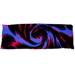 Swirl Black Blue Pink Body Pillow Case Dakimakura (two Sides) by BrightVibesDesign