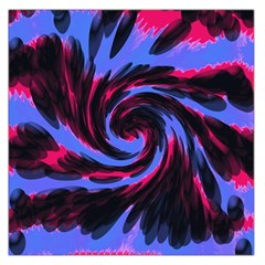 Swirl Black Blue Pink Large Satin Scarf (square)