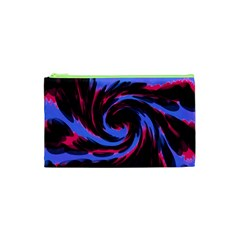 Swirl Black Blue Pink Cosmetic Bag (xs) by BrightVibesDesign