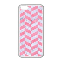 Chevron1 White Marble & Pink Watercolor Apple Iphone 5c Seamless Case (white)