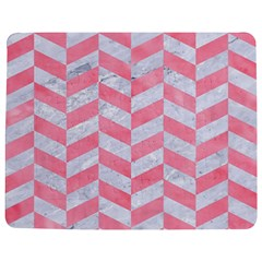 Chevron1 White Marble & Pink Watercolor Jigsaw Puzzle Photo Stand (rectangular)