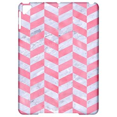 Chevron1 White Marble & Pink Watercolor Apple Ipad Pro 9 7   Hardshell Case