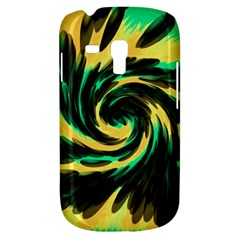 Swirl Black Yellow Green Galaxy S3 Mini by BrightVibesDesign