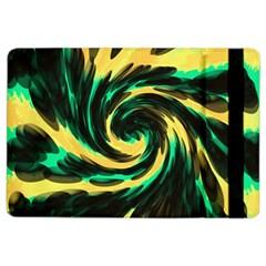 Swirl Black Yellow Green Ipad Air 2 Flip by BrightVibesDesign