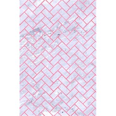 Brick2 White Marble & Pink Watercolor (r) 5 5  X 8 5  Notebooks
