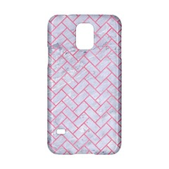 Brick2 White Marble & Pink Watercolor (r) Samsung Galaxy S5 Hardshell Case