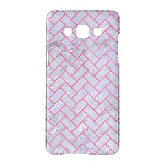 Brick2 White Marble & Pink Watercolor (r) Samsung Galaxy A5 Hardshell Case