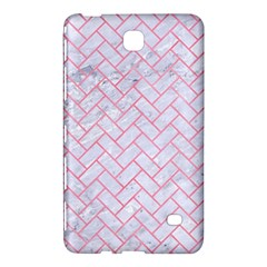 Brick2 White Marble & Pink Watercolor (r) Samsung Galaxy Tab 4 (7 ) Hardshell Case  by trendistuff