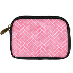 Brick2 White Marble & Pink Watercolor Digital Camera Cases