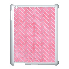 Brick2 White Marble & Pink Watercolor Apple Ipad 3/4 Case (white)