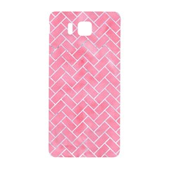 Brick2 White Marble & Pink Watercolor Samsung Galaxy Alpha Hardshell Back Case