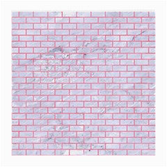 Brick1 White Marble & Pink Watercolor (r) Medium Glasses Cloth (2 Side)