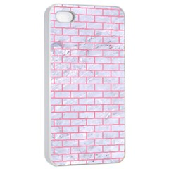 Brick1 White Marble & Pink Watercolor (r) Apple Iphone 4/4s Seamless Case (white) by trendistuff