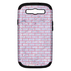Brick1 White Marble & Pink Watercolor (r) Samsung Galaxy S Iii Hardshell Case (pc+silicone) by trendistuff