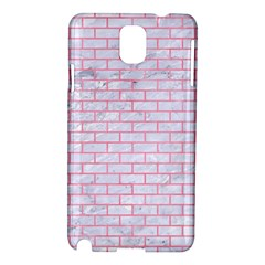 Brick1 White Marble & Pink Watercolor (r) Samsung Galaxy Note 3 N9005 Hardshell Case