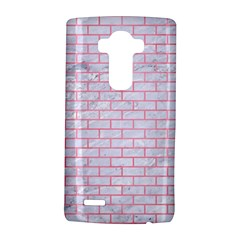 Brick1 White Marble & Pink Watercolor (r) Lg G4 Hardshell Case