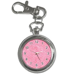 Brick1 White Marble & Pink Watercolor Key Chain Watches