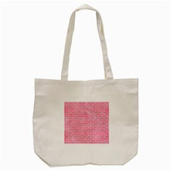 Brick1 White Marble & Pink Watercolor Tote Bag (cream)